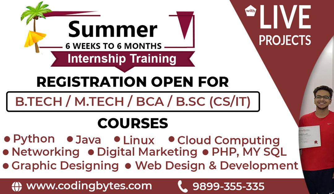 Best Institute for Summer Training in Rohini