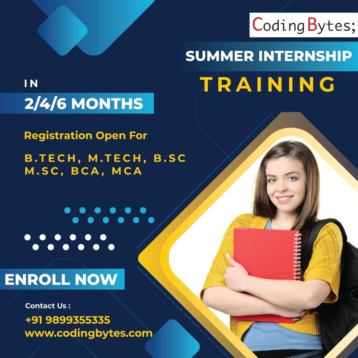 Summer Training in Coding at Coding Bytes